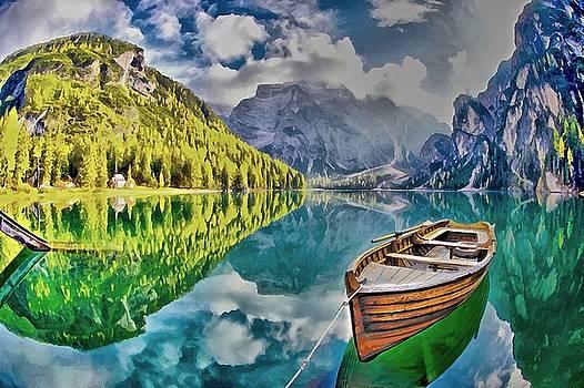 Boat on the Lake by Maciej Froncisz