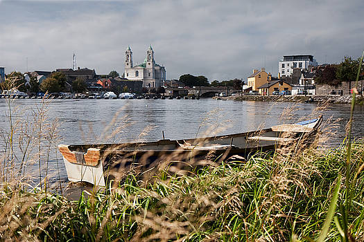 Boat on the Shannon at Athlone County Westmeath by Deborah Squires