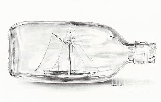 Boat stuck in a bottle by Meagan  Visser