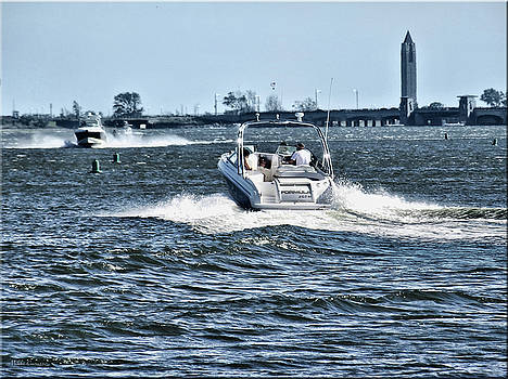 Boating off of Jones Beach by Mikki Cucuzzo