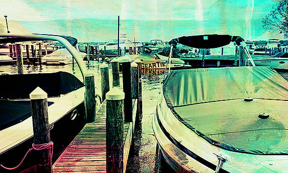 Boats and Dock by Susan Stone