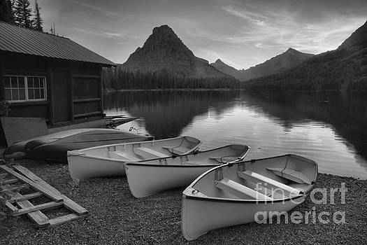 Adam Jewell - Boats At Rest Black And White