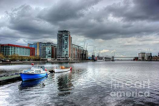 Boats on the Thames HDR by Vicki Spindler