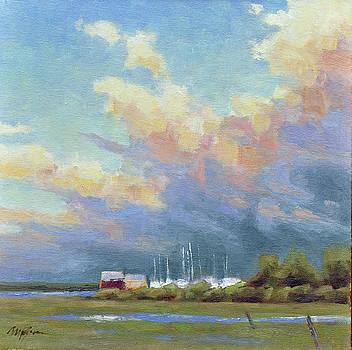 Boatyard Clouds by Mary Byrom