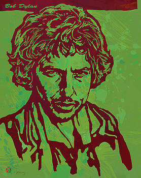 Bob Dylan pop art poser by Kim Wang