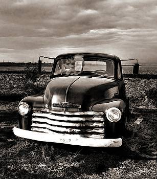 Bob's Truck in b/w by Julie Dant