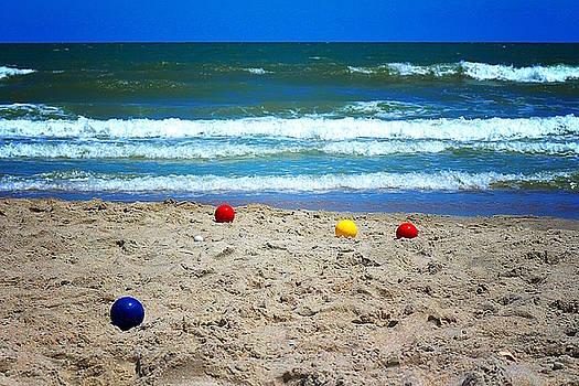 Bocce on the Beach by Greg Simmons