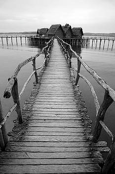 Bodensee walkway B and W by Marcus Best