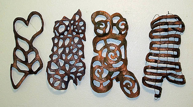 Body Mask wall hanging forms by Dedo Cristina