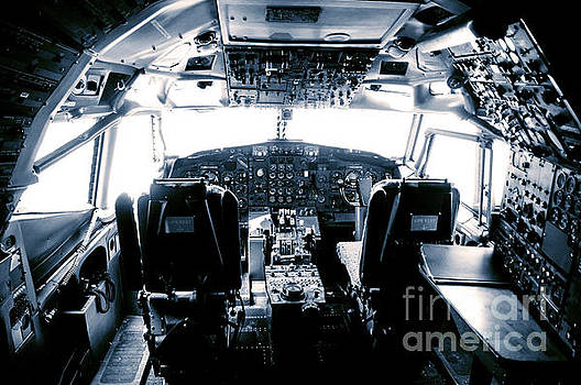 Boeing 747 cockpit 22 by Micah May