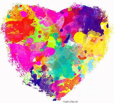 Bold Watercolor Heart - Digital Art by Debbie Portwood