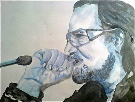 Bono in blue by Pauline Murphy