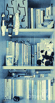 Books Are Blue Today by Jutta Maria Pusl
