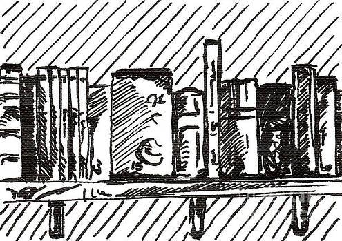 Bookshelf 1 2015 - ACEO by Joseph A Langley