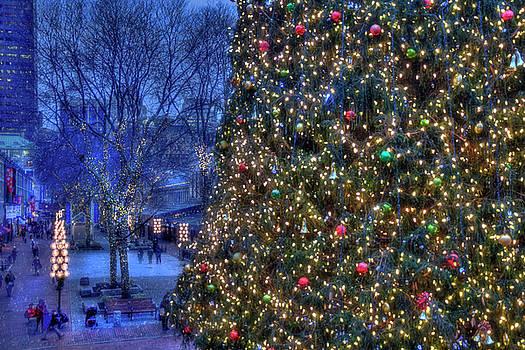 Boston Holiday Stroll - Faneuil Hall by Joann Vitali