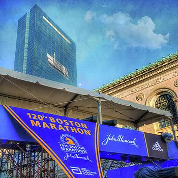 Boston Marathon on Boylston Street - Boston by Joann Vitali