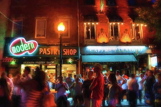 Boston North End Nights Modern Pastry - Hanover Street by Joann Vitali