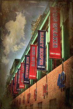 Boston Red Sox Retired Numbers - Fenway Park by Joann Vitali