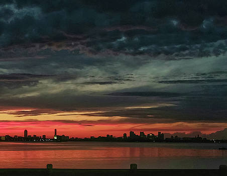 Boston Skyline After a Storm by Deborah Squires