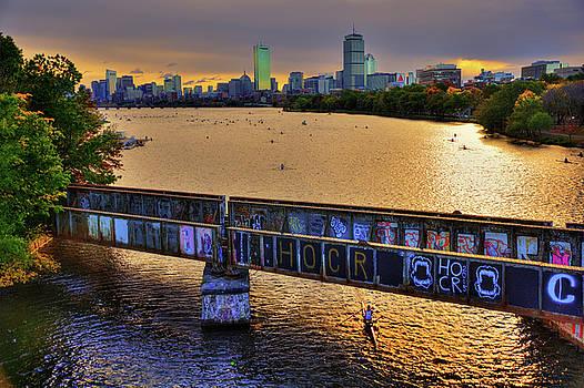 Boston Skyline at Sunrise over The Charles RIver by Joann Vitali