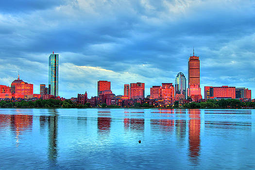 Boston Skyline Sunset - Back Bay by Joann Vitali