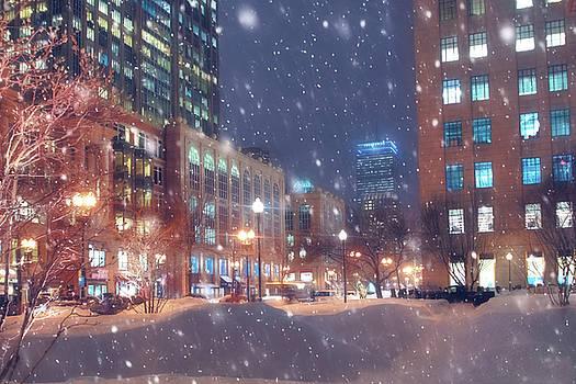 Boston Snowstorm in Back Bay by Joann Vitali