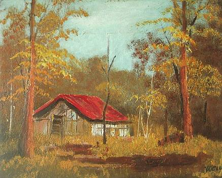 Barn in the Forest by Vesna Antic
