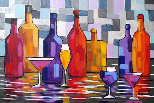 Bottle of Wine by Rosie Sherman