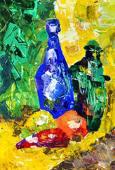 Bottles and Vegetables by Elena Bespalova