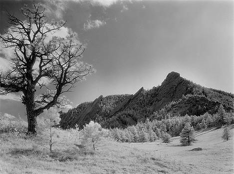 Boulder Flatirons in Infrared by Jerry McElroy