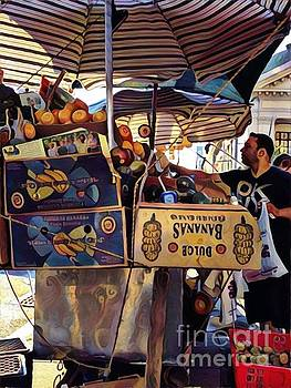 Bounty Under the Umbrella - Market Day in New York by Miriam Danar