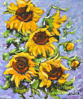 Bouquet Del Sol Sunflowers by Richard T Pranke