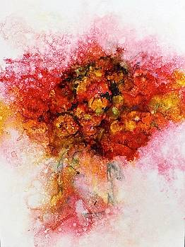Bouquet in Red by Carolyn Rosenberger