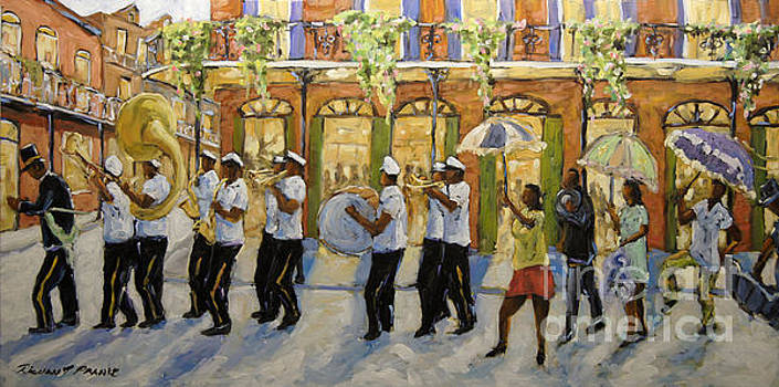 Bourbon Street Second Line New Orleans by Richard T Pranke