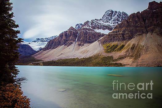 Bow Lake Banff National Park Long Exposure by Wayne Moran