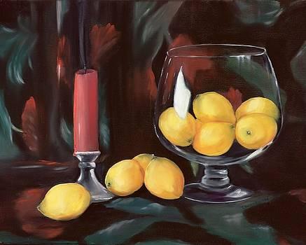 Bowl of Lemons by Carol Sweetwood