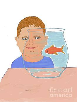 Boy and Fish by Fred Jinkins