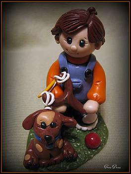 Boy and His Dog by Trina Prenzi