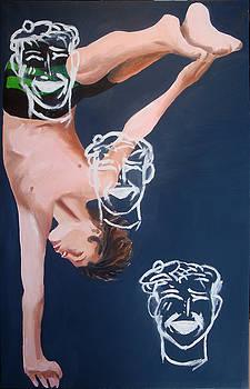 Boy Diver with 3 Tam-O-Shanters by Geoff Greene