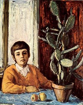 Boy with a cactus by Dionisii Donchev