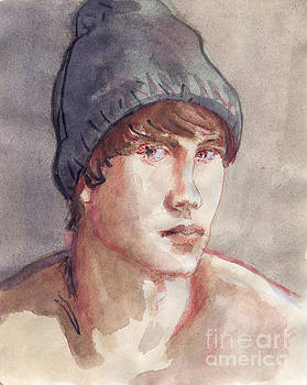 Boy With Gray Cap by Line Arion