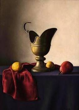Brass Pitcher With Fruit by Keith Murray