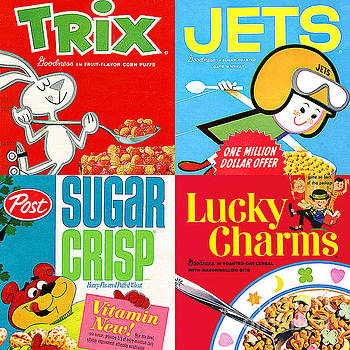 Wingsdomain Art and Photography - Breakfast Cereal Pop Art Nostalgia Four 20160215