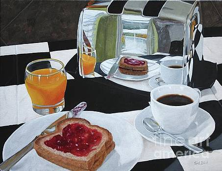 Breakfast Reflections by Sid Ball