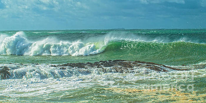 Breaking Surf Seascape.... Exclusive Original stock Photo Art di by Geoff Childs