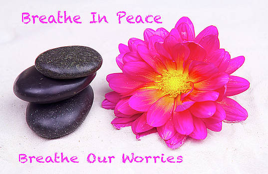 Breath In Peace Breath OUt Worries by Daphne Sampson