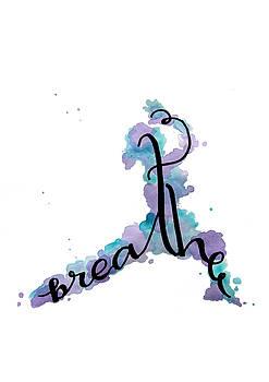 Breathe Yoga Art by Michelle Eshleman