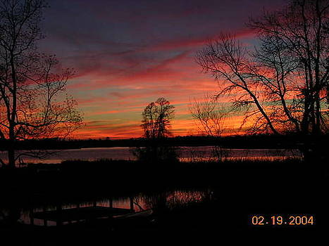 Breathtaking view of Cooper River Sunset by Lee Ann Wunderler