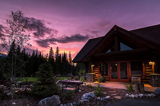 Breck Nordic Lodge Sunset by Michael J Bauer