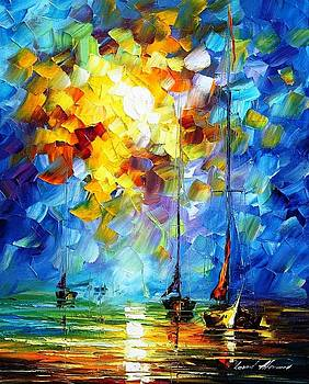 Breeze - PALETTE KNIFE Oil Painting On Canvas By Leonid Afremov by Leonid Afremov